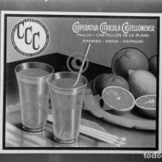 Fotografía antigua: MAGNIFICA COLECCIÓN DE 19 FOTOS PUBLICITARIAS DE MARCAS DE NARANJAS. Lote 194550813
