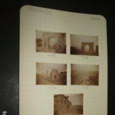 Fotografía antigua: MEDINACELI SORIA 1930 7 FOTOGRAFIAS JEAN BRAUNWALD ARQUITECTO . Lote 103864531