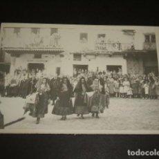 Fotografía antigua: LA ALBERCA SALAMANCA 8 FOTOGRAFIAS AÑOS 40 FIESTAS. Lote 103867547