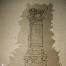 Fotografía antigua: CHICLANA DE LA FRONTERA CADIZ PROYECTO DE MONUMENTO A LOS HEROES BATALLA DE CHICLANA FOTOGRAFIA 1900. Lote 103882015