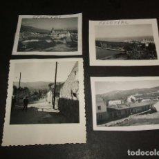 Fotografía antigua: EL ESCORIAL MADRID 4 FOTOGRAFIAS AÑOS 40. Lote 103885219