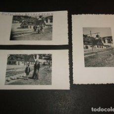 Fotografía antigua: NAVACERRADA MADRID 3 FOTOGRAFIAS ESTACION FERROCARRIL AÑOS 40. Lote 103885263