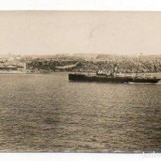 Fotografía antigua: MAHÓN. MENORCA BALEARES. LA MOLA Y ENTRADA AL PUERTO. H. 1920. Lote 104600887