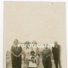 Fotografía antigua: FOTO ORIGINAL PLAYA DE CALAFELL AÑO 1925 TARRAGONA. Lote 104761559