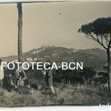 Fotografía antigua: FOTO ORIGINAL BARCELONA BARRIO DE VALLVIDRERA TIBIDABO AÑO 1929. Lote 109003643