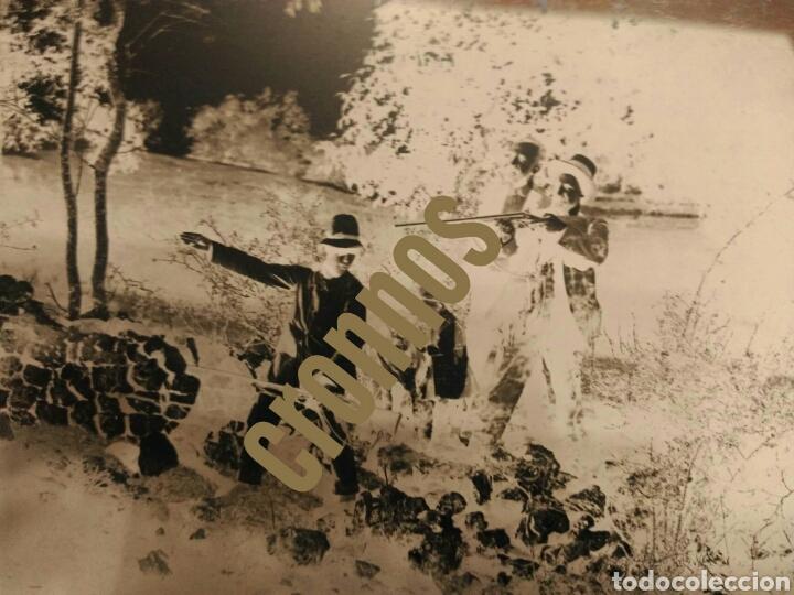 Fotografía antigua: Foto antigua de caza. Placa de cristal Gelatino-Bromuro 1910 - Foto 3 - 109126303