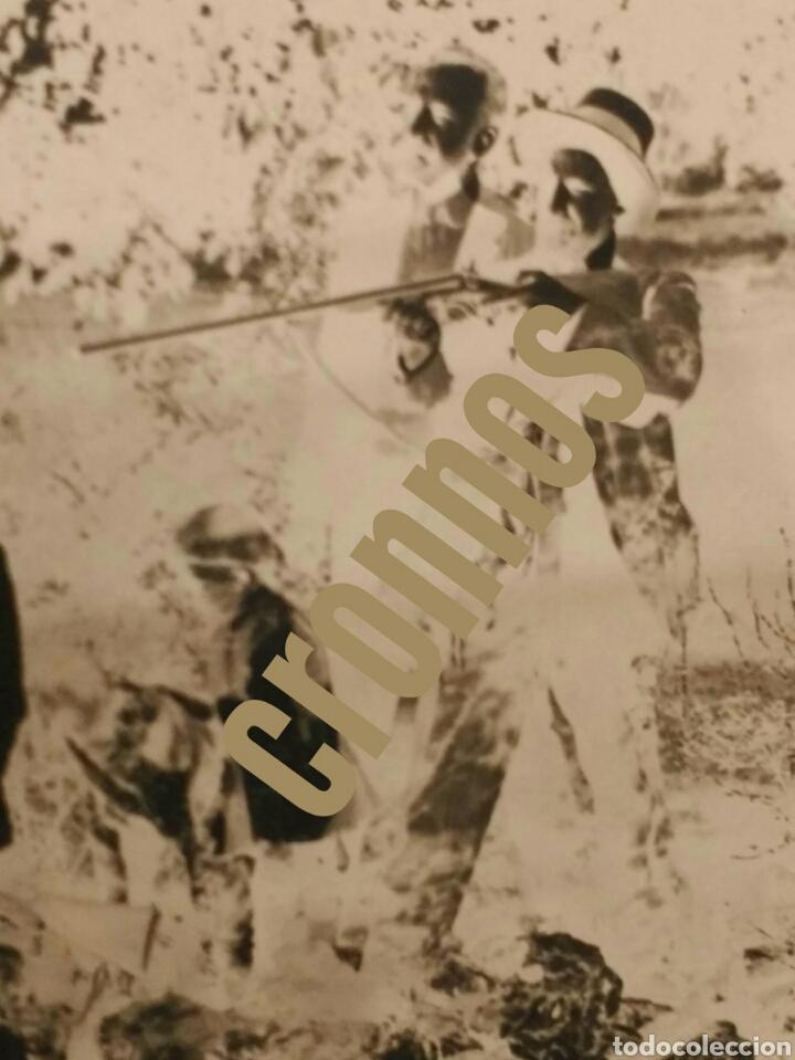 Fotografía antigua: Foto antigua de caza. Placa de cristal Gelatino-Bromuro 1910 - Foto 5 - 109126303