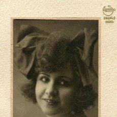 Fotografía antigua: EXTRAORDINARIO RETRATO DE ACTRIZ ? F: ALFONSO. MADRID. C. 1930. Lote 109162003