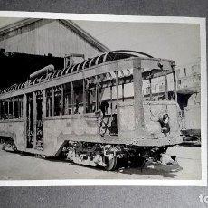 Fotografía antigua: TRANVIA - 1934 - SABOTAJE - INCENDIO - BARCELONA 1934 . Lote 109737283