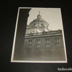 Fotografía antigua: EL ESCORIAL MADRID CUPULA DEL MONASTERIO FOTOGRAFIA 1898 POR VIAJERO ALEMAN 8 X 10,7 CMTS. Lote 110195447
