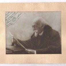 Fotografía antigua: EL DOCTOR ANDREU, SALVADOR ANDREU (1841-1928) FARMACÉUTICO, RETRATO DEDICADO AÑO 1922.. Lote 110273411