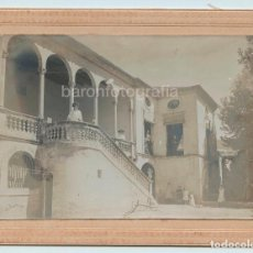 Fotografía antigua: L'ARBOÇ, PROVINCIA DE TARRAGONA, 1910 APROX. FOTO 12X17 CM. SOPORTE: 15X20 CM.. Lote 110827743