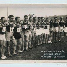 Fotografía antigua: EL EQUIPO DE CATALUÑA DE CROSS-COUNTRY. AÑO 1933, FOTO: SAGARRA Y TORRENTS, BARCELONA. 13X18 CM.. Lote 110832751
