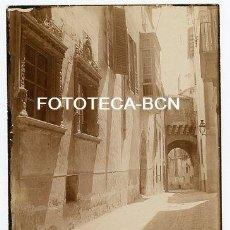Fotografía antigua: FOTO ORIGINAL PALMA DE MALLORCA CALLE DE LA LOCALIDAD AÑOS 20 BALEARES. Lote 111078183