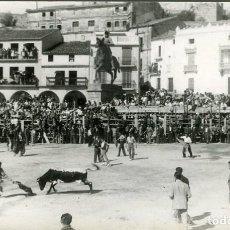 Fotografía antigua: TRUJILLO (CÁCERES). FESTIVAL TAURINO EN LA PLAZA MAYOR DE LA CIUDAD, OCTUBRE DE 1953. 7 FOTOGRAFÍAS. Lote 111453011