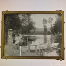 Photographie ancienne: ANTIGUA FOTOGRAFIA POSITIVO EN CRISTAL S XIX XX MARCO PARA COLGAR 9CM X 12CM AMBROTIPO COLODION. Lote 111491638
