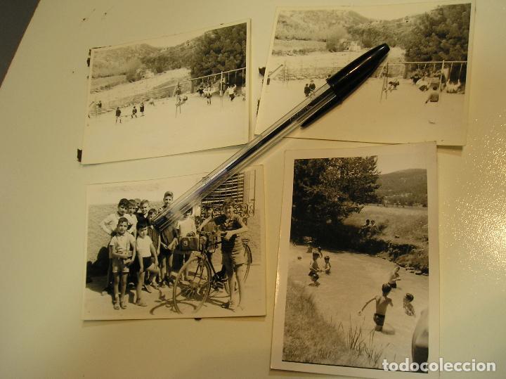 antigua foto fotografia niños veraneando vacaciones en el pueblo años 70 bañandose en el rio (18), usado segunda mano