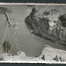 Fotografía antigua: EMBALSE DE BENAGÉBER. VALENCIA. PANTANO EN CONSTRUCCIÓN. 11-04-1949. Lote 112228867