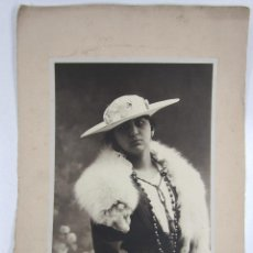 Fotografía antigua: GRAN RETRATO 23X29 CM. SOPORTE: 32X50 CM. FOTO: EL SIGLO, BARCELONA. 1920'S.. Lote 112545959