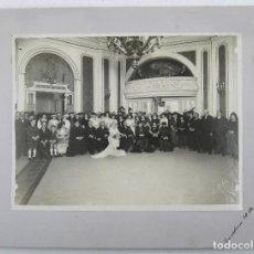 Fotografía antigua: RETRATO DE BODA, MARZO 1920. FOTO: MERLETTI, BARCELONA. SOPORTE: 25X34 CM. VER TEXTO REVERSO. Lote 112547251