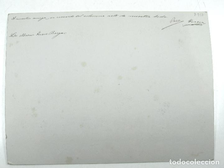 Fotografía antigua: RETRATO DE BODA, MARZO 1920. FOTO: MERLETTI, BARCELONA. Soporte: 25x34 cm. VER TEXTO REVERSO - Foto 3 - 112547251