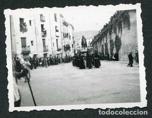CUENCA. CASTILLA-LA MANCHA. PROCESIÓN DE SEMANA SANTA. ABRIL DE 1952 (Fotografía Antigua - Gelatinobromuro)