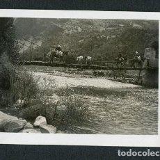 Photographie ancienne: LLEIDA. BARRUERA. EXCURSIONISTAS. PUENTE. RÍO NOGUERA. TOR. 1934. Lote 116124827