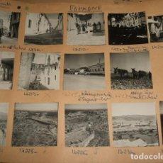Fotografía antigua: SAGUNTO VALENCIA CONJUNTO 14 FOTOGRAFIAS AÑOS 40 FOTO GOLDLER PARIS MONTADAS SOBRE CARTON 6 X 6 CMTS. Lote 116504951