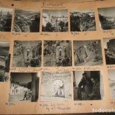 Fotografía antigua: RONDA MALAGA CONJUNTO 14 FOTOGRAFIAS FOTO GOLDLER PARIS AÑOS 40 MONTADAS SOBRE CARTON 6 X 6 CMTS. Lote 116504999