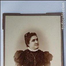 Fotografía antigua: ANTIGUA FOTOGRAFÍA DE MUJER. FOTO POL. CÁDIZ. CABINET. Lote 117672811