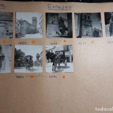 Fotografía antigua: VINAROZ CASTELLÓN 8 FOTOGRAFÍAS AÑOS 40 POR VIAJERO FRANCÉS 6 X 6 CMTS. Lote 119028147