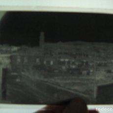 Fotografía antigua: (TC-118) LOTE DE SEIS (5) CLICHES CRISTAL IGLESIA PARROQUIA DE ESTADILLA EN RUINAS UNA FOTO PUEBLO. Lote 119113283