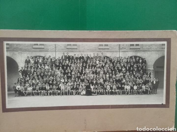 ALUMNOS DEL COLEGIO DE SAN JOSE DE VALLADOLID POSANDO EN EL PATIO,CIRCA 1915 (Fotografía Antigua - Gelatinobromuro)