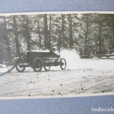 Fotografía antigua: FOTOGRAFIA POSTAL DE UN AUTOMOVIL DE CARRERAS DE PRINCIPIOS DEL SIGLO XX. Lote 120889811