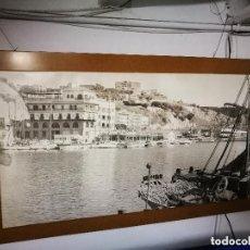Fotografía antigua: MURAL POSTER CARTEL AMPLIACION GRAN TAMAÑO PUERTO COSTA TARRAGONA LOCALIDAD CATALANA AÑOS 50. Lote 121049887