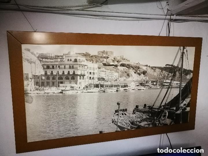 Fotografía antigua: MURAL POSTER CARTEL AMPLIACION GRAN TAMAÑO PUERTO COSTA TARRAGONA LOCALIDAD CATALANA AÑOS 50 - Foto 2 - 121049887