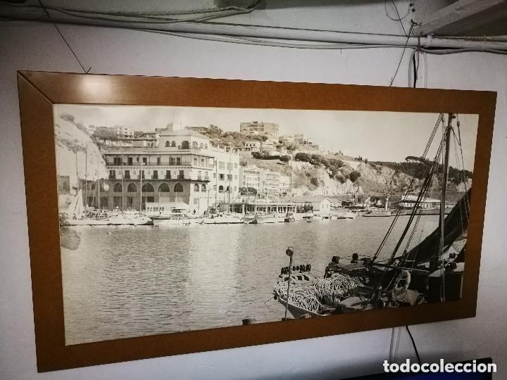 Fotografía antigua: MURAL POSTER CARTEL AMPLIACION GRAN TAMAÑO PUERTO COSTA TARRAGONA LOCALIDAD CATALANA AÑOS 50 - Foto 3 - 121049887