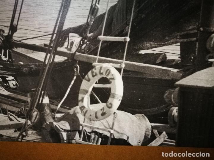 Fotografía antigua: MURAL POSTER CARTEL AMPLIACION GRAN TAMAÑO PUERTO COSTA TARRAGONA LOCALIDAD CATALANA AÑOS 50 - Foto 8 - 121049887