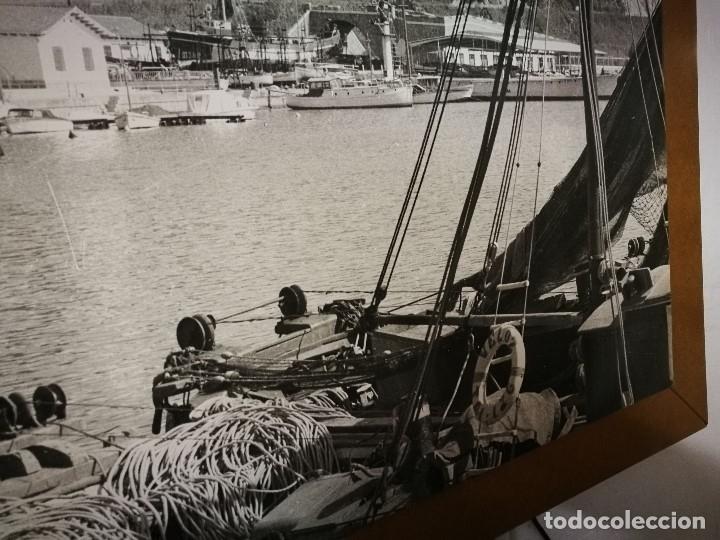 Fotografía antigua: MURAL POSTER CARTEL AMPLIACION GRAN TAMAÑO PUERTO COSTA TARRAGONA LOCALIDAD CATALANA AÑOS 50 - Foto 12 - 121049887