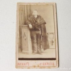 Fotografía antigua: FOTOGRAFÍA DE UN PAISANO CON TRAJE TÍPICO - INFANTE Y GARCIA FOTOGRAFOS - ZARAGOZA. Lote 122164991