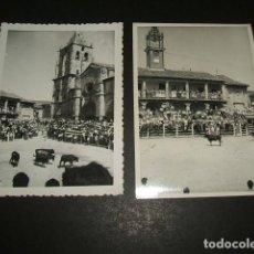 Fotografía antigua: TORRELAGUNA MADRID CONJUNTO 11 FOTOGRAFIAS 1957 ENCIERROS Y CORRIDA DE TOROS 7 X 10,5 CMTS. Lote 122542975