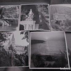 Fotografía antigua: CINCO PEQUEÑAS FOTOGRAFIAS DE COVADONGA, ASTURIAS. Lote 124442871