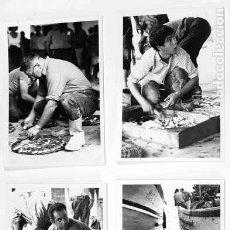 Fotografía antigua: 4 FOTOS 7X10 CM PUERTO DE BLANES AÑO 1969. Lote 124651243