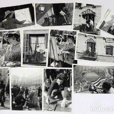 Fotografía antigua: LOTE FOTOGRAFIAS 7X10 CM DEL CONCURSO DE PINTURA DEL MERCAT DEL RAM DE VIC 1968. Lote 124651639