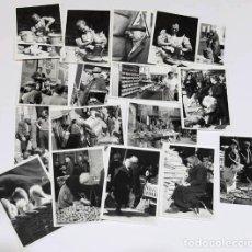 Fotografía antigua: LOTE FOTOGRAFIAS 7X10 CM DEL MERCAT DEL RAM DE VIC 1968. Lote 124651799