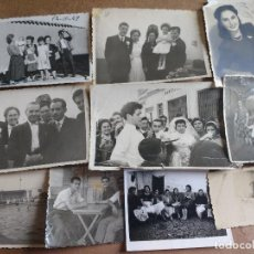 Fotografía antigua: 38 FOTOGRAFIAS AÑOS 40 AL 60 FAMILIAS DE MALAGON (CIUDAD REAL), CARNECERIA PUERTA DEL SOL, PISCINA. Lote 125752367