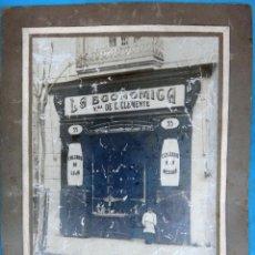 Fotografía antigua: FOTOGRAFIA COMERCIO DE VALENCIA , LA ECONOMICA VDA. DE CLEMENTE , ZAPATERIA , CALZADOS , ORIGINAL . Lote 127231215