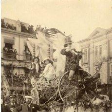 Fotografía antigua: MURCIA. 'TIEMPOS MODERNOS'. CARROZA QUE OBTUVO EL PRIMER PREMIO EN LA BATALLA DE FLORES DE 1913. Lote 127525067