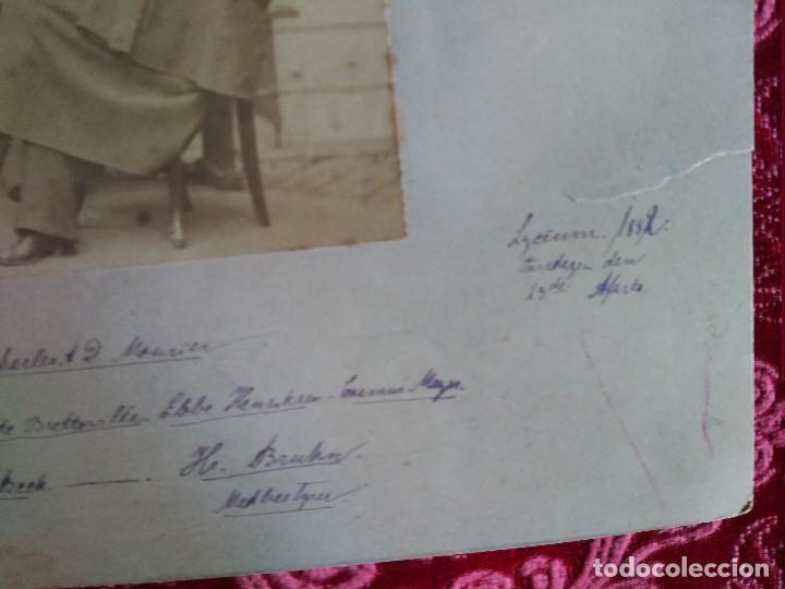 Fotografía antigua: 1882 suecia clase de estudiantes lleva todos los datos de don de es y los nombres de los que aparece - Foto 5 - 127620055