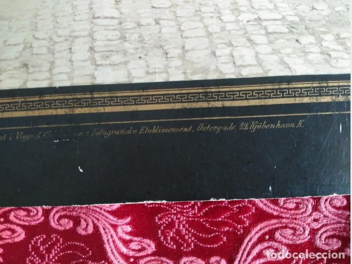 Fotografía antigua: gran foto sobre carton ejercito sueco ustergade finales siglo XIX - Foto 5 - 127621739